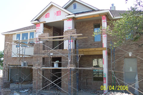 Photo of Dan and Angela's home under construction.